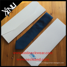 100% Microfiber Gift Box Necktie White Envelope Tie Box
